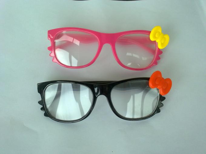 Thick Lense 3D Fireworks Glasses Hello Kitty Style For Girls