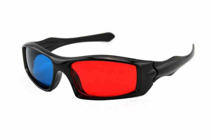 Passive Plastic Red Cyan 3D Glasses