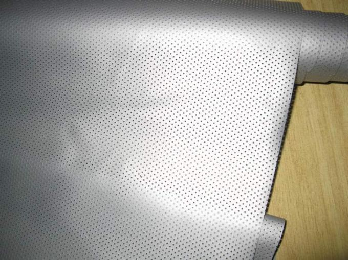 Perforated Pvc Silver Projection Screen Foldable For 3D Cinema
