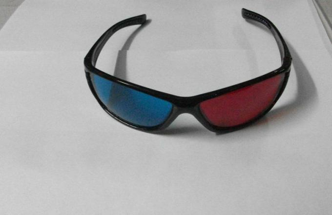 Plastic Red Cyan 3D Glasses For Home Theater