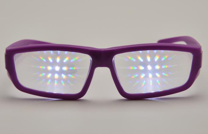 Promotional Plastic Diffraction Glasses With Clear Fireworks Film
