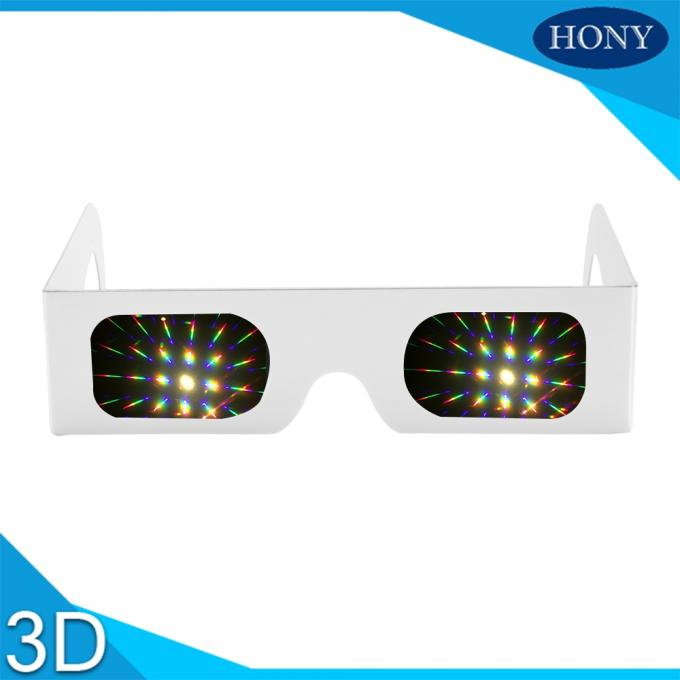 Most Popular 3d Firework Glasses Clear 13500 Diffraction Effect Pet Materials