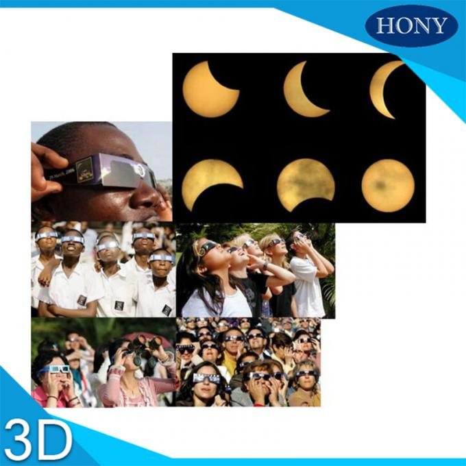 Sun solar eclipse viewing glasses , Cardboard Paper Eye 3d Glasses