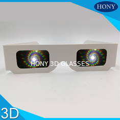 Trung Quốc Party Spiral 3d Diffraction Glasses , Pet Materials Fireworks 3d Glasses With Logo nhà cung cấp
