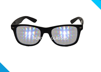 Trung Quốc Rainbow Spiral Plastic 3d Diffraction Glasses For New Year Rave Parties nhà cung cấp