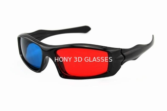 Trung Quốc Passive Plastic Red Cyan 3D Glasses , Anaglyph Red Blue Glasses nhà cung cấp