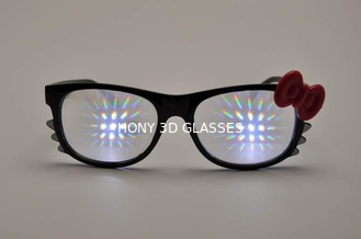 Trung Quốc Celebration Hello Kitty 3D Firework Glasses / Diffraction Lense Glasses nhà cung cấp