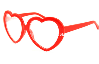 Trung Quốc Customized Plastic Diffraction Glasses With Heart Shape Red Frame nhà cung cấp