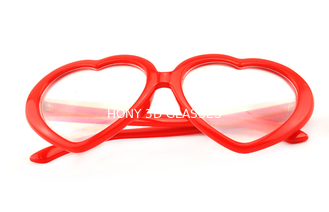 Trung Quốc Red Frame Plastic Diffraction Glasses For Night Club , Dance Event nhà cung cấp