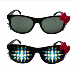Trung Quốc Firework Plastic Diffraction Glasses , Hello Kitty Rainbow Glasses nhà cung cấp