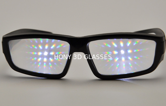 Trung Quốc Promotional Plastic Diffraction Grating Film Glasses With Black Frame nhà cung cấp