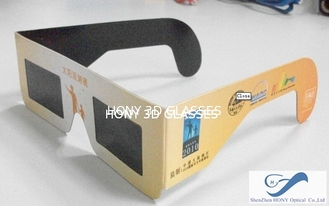 Trung Quốc Cheap Paper Frame Solar Eclipse Viewing Glasses With 0.20mm PET Lenses nhà cung cấp