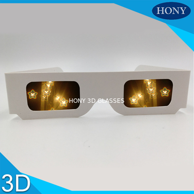 Trung Quốc Christmas Star Smile Diffraction 3d Fireworks Glasses Customized Color Lightweight nhà máy sản xuất