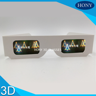 Trung Quốc Christmas Tree Diffraction 3D Fireworks Glasses For Party , CE / Rohs / SGS nhà máy sản xuất