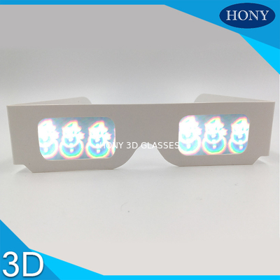 Trung Quốc PVC Circular Polarized 3D Glasses For Entertainment , Snow Man Diffraction Effect nhà máy sản xuất