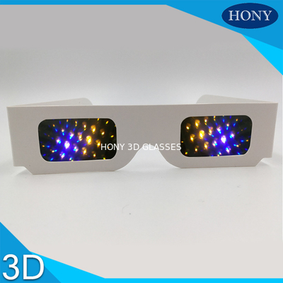 Trung Quốc Most Popular 3d Firework Glasses Clear 13500 Diffraction Effect Pet Materials nhà máy sản xuất