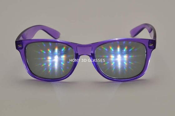 Trung Quốc Purple Frame Plastic Diffraction Glasses  Style , Rainbow Prism Glasses nhà máy sản xuất