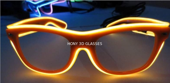 Trung Quốc High Brightness Orange El Wire Glasses For Party Show With Pc Plastic Frame nhà phân phối
