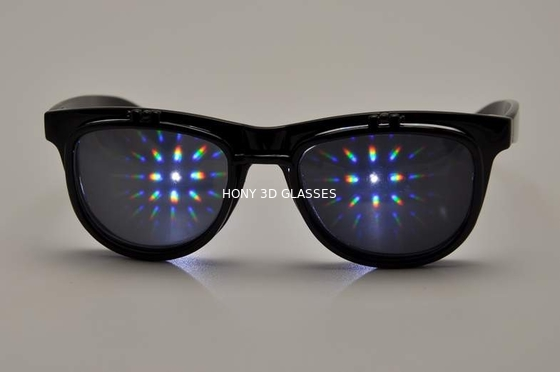 Trung Quốc Flip Up Diffraction 3D Fireworks PC Glasses Eyeglasses For Entertainment Sites nhà máy sản xuất