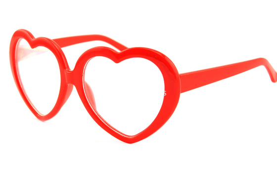 Trung Quốc Customized Plastic Diffraction Glasses With Heart Shape Red Frame nhà máy sản xuất