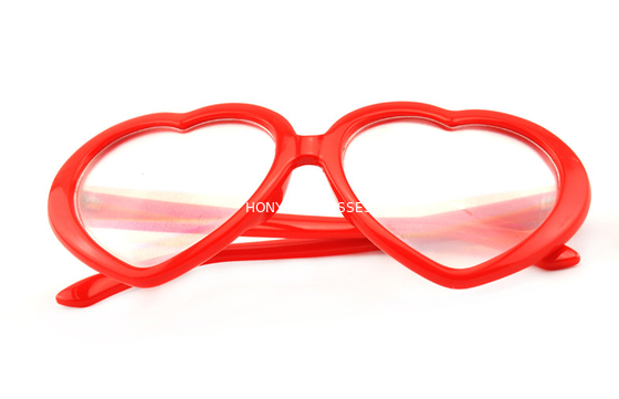 Trung Quốc Red Frame Plastic Diffraction Glasses For Night Club , Dance Event nhà phân phối